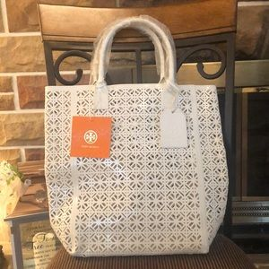 Tory Burch White PVC bag limited edition!
